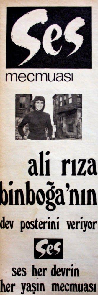 OĞUZ TOPOĞLU : ses mecmuası ali rıza binboğa posteri 1975 hayat d...