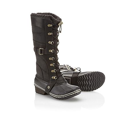 Chic Gold Accented Snow boots