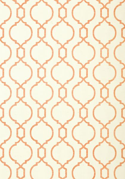 CORTNEY, Coral on Cream, T11060, Collection Geometric Resource 2 from Thibaut