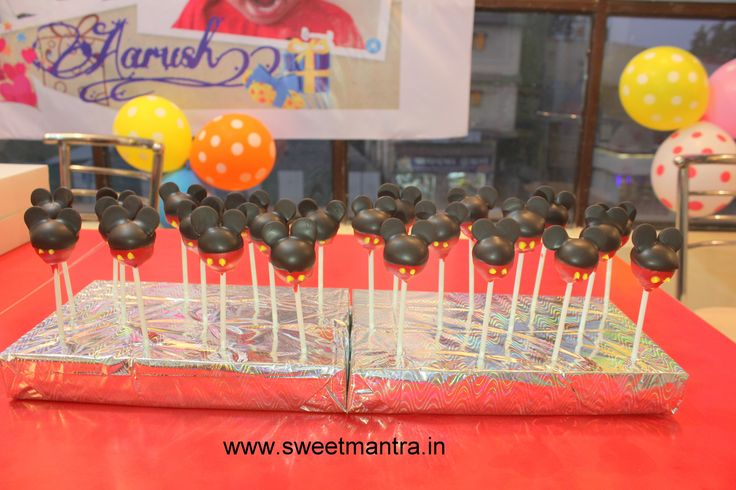 Homemade Eggless 3D customized, personalized, handcrafted, designer, fondant Mickey Mouse theme birthday Cake Pops for boy at Baner, Pune