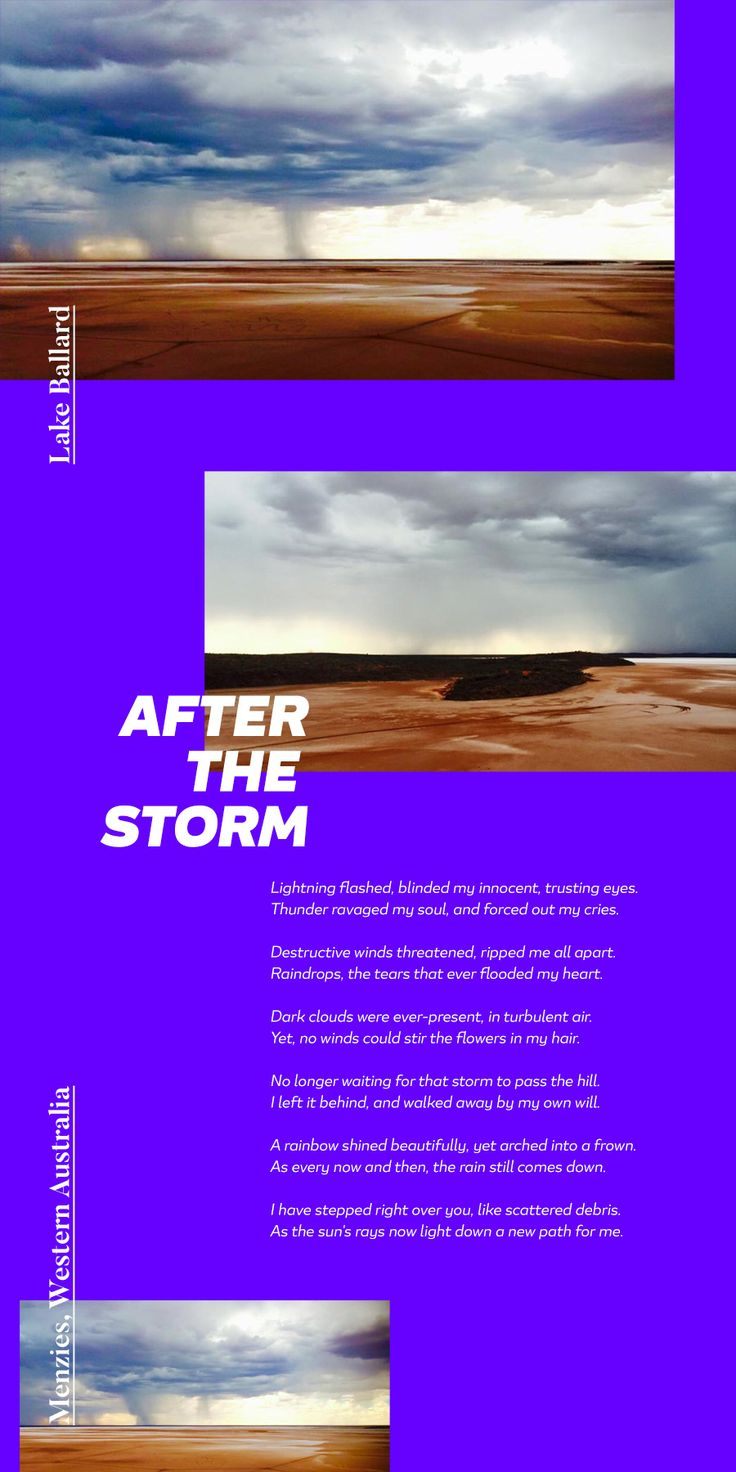 After the storm by - Kelly Deschler / Images by @reetib #365daysoftype #365project #365days #type #typeface #typography #graphicdesign #graphicdesigner #thedesigntip #australia #lakeballard #travel #journey #studio #paulsyngdesign #inspiration #poetry