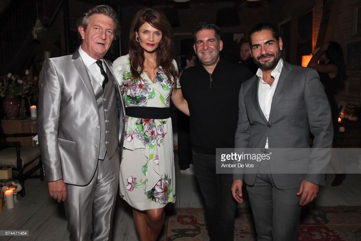 Nick Graham, Helena Christensen, Stephen Brown and Edgar Marquez attend Strangelove NYC's Helena Christensen and Elizabeth Gaynes Host Party Celebrating Launch of New Fragrance - lostinflowers in New York on November 14, 2017 in New York City.