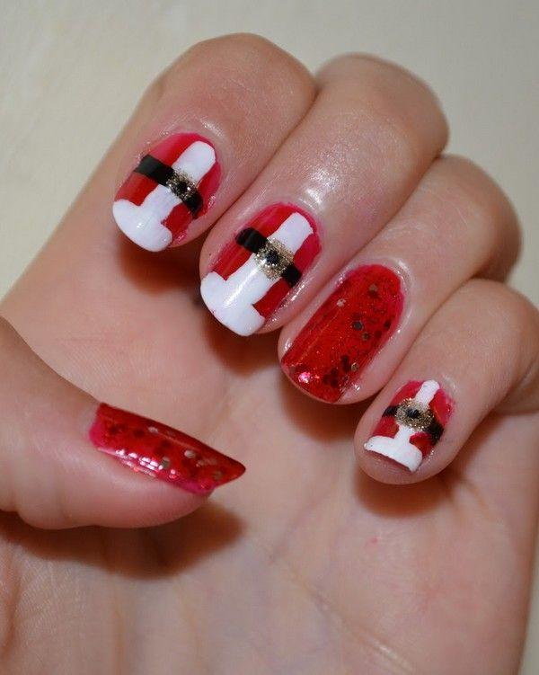 Santa Hat Nails Designs .. #SantaHatNailArt #NailArtDesigns  #ChristmasNailArt - Best 25+ Santa Hat Nails Ideas On Pinterest Santa Nails, Xmas