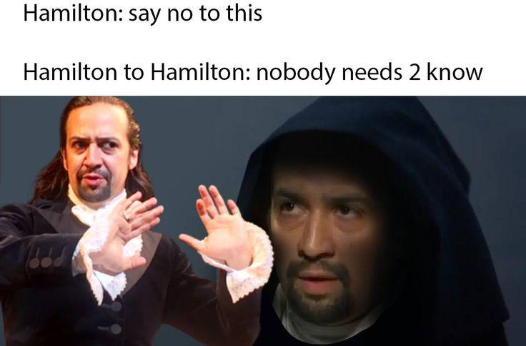 Resultado de imagen para say no to this hamilton