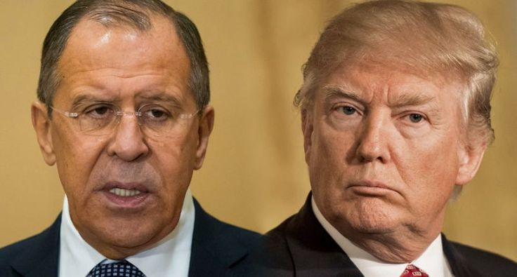 Sergey Lavrov, left, and President Trump characterized the Jeff Sessions scandal the same way. (Alexander Zemlianichenko/Pool/AP, Melina Mara/The Washington Post via Getty Images)