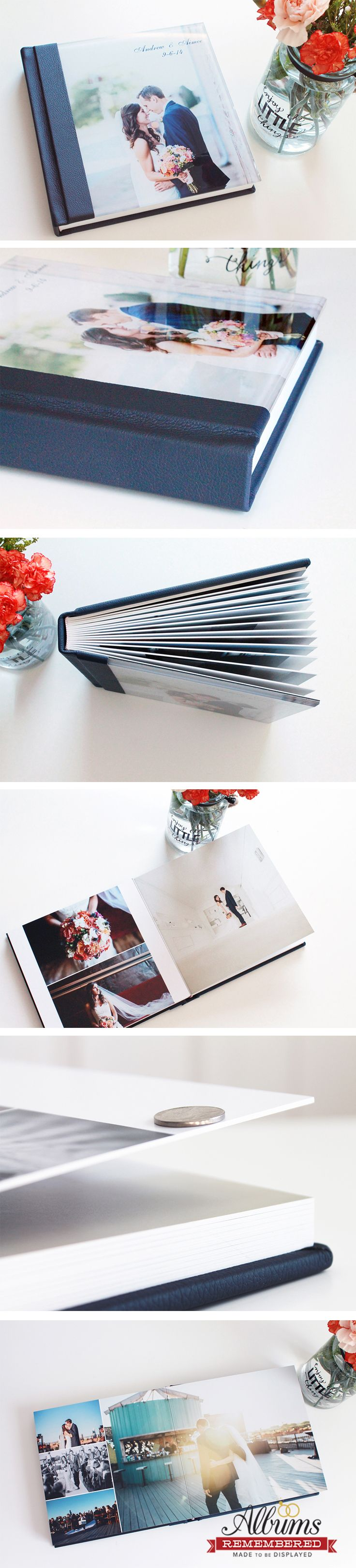 Professional wedding photo albums directly to the public at an affordable price. With each album purchasing, it includes free design with unlimited revisions as well as a digital flip album that can be shared with family and friends. Check us out at www.albumsremembered.com