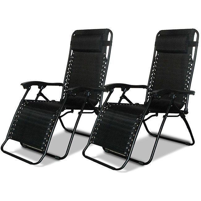 Zero Gravity Chair Folding Lounge Chair Outdoor Patio Furniture Pack Of 2  Chairs #CaravanCanopy