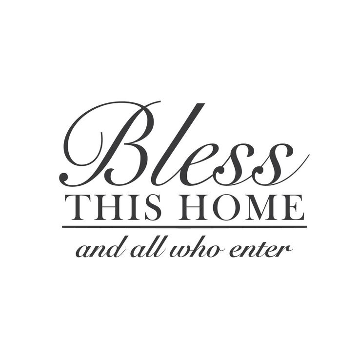 "Wall Quotes Wall Decals - ""Bless This Home and All Who Enter"""