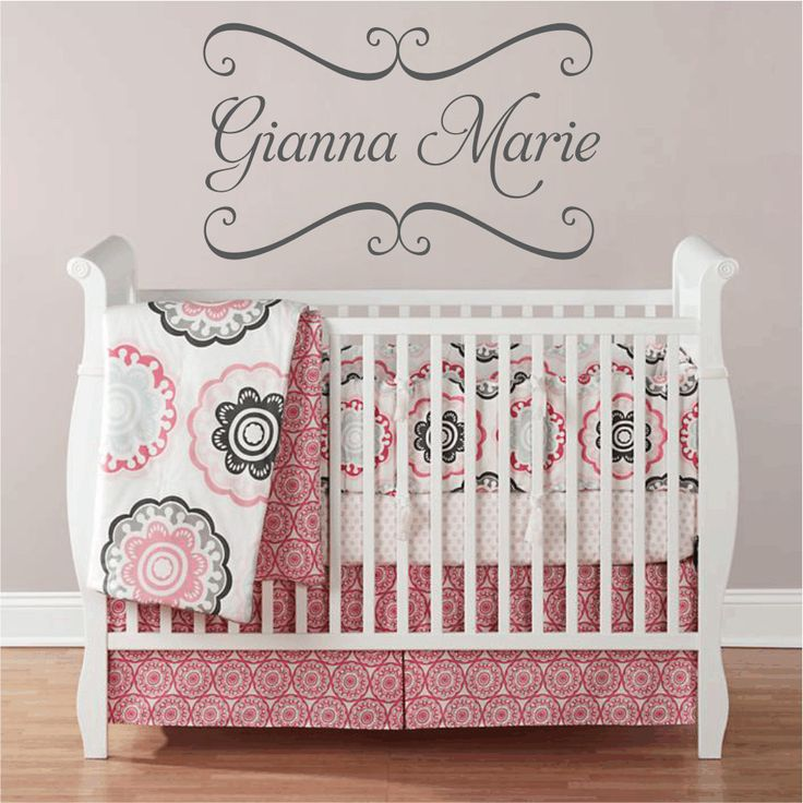 Best Monograms Images On Pinterest - Personalized custom vinyl wall decals for nursery