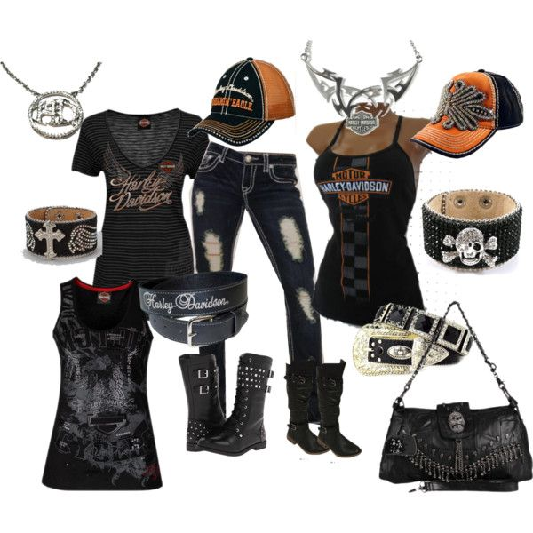 harley Davidson by designerhiddentreasures on Polyvore featuring Harley-Davidson and Olive & Pique