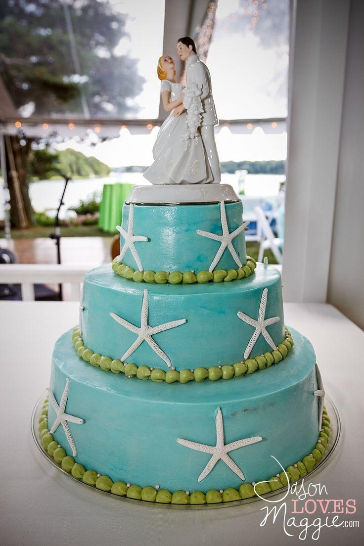 #weddings #weddingcake #beachwedding #summerwedding #beachweddingcake #summerweddingcake #bluegreencake #bluegreenweddingcake #starfish