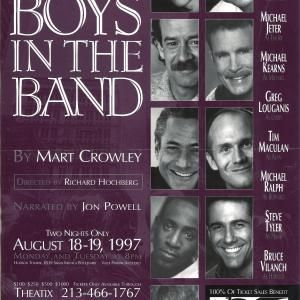 THE BOYS IN THE BAND- Chad Allen, Mitchell Anderson, Michael Jeter, Michael Kearns, Greg Louganis, Steve Tyler, Bruce Vilanch, Michael Ralph, Directed By Richard Hochberg