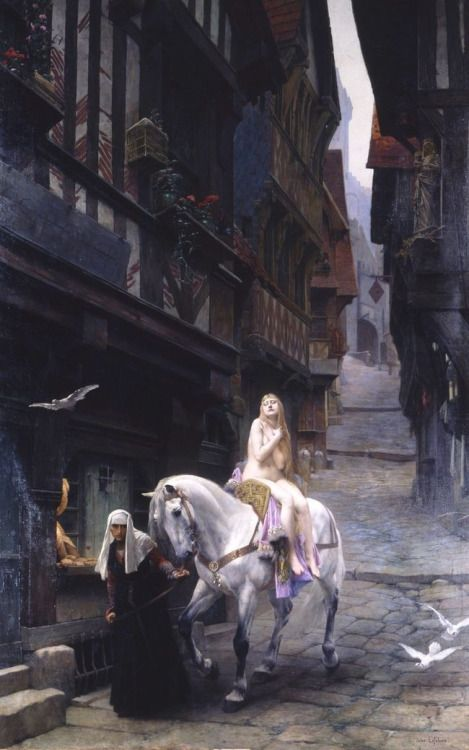 "Lady Godiva:  ""#Lady #Godiva, "" by Jules Joseph Lefebvre, 1891."