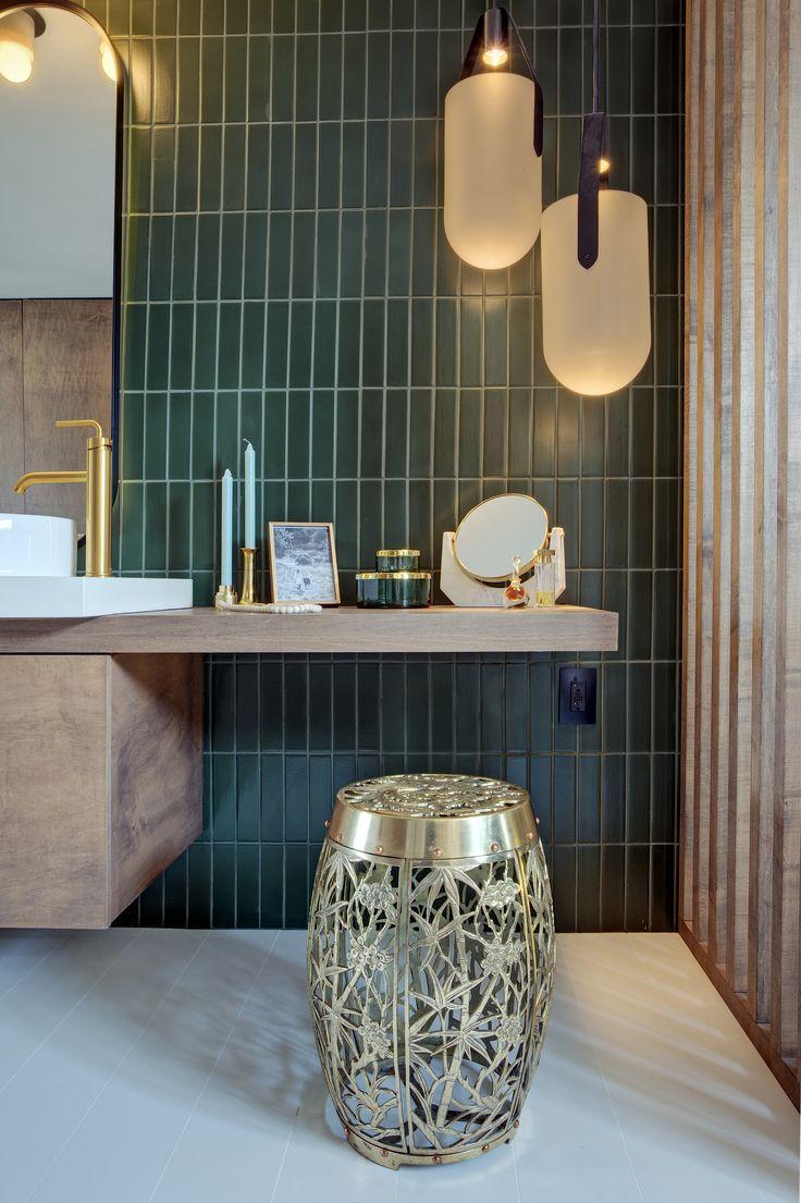 SF Decorator Showcase: Master Bath | Green tile bathroom ...