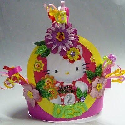 Syl's Verjaardagsmutsen - Syl's Birthday Hats: Hello Kitty Verjaardagsmuts