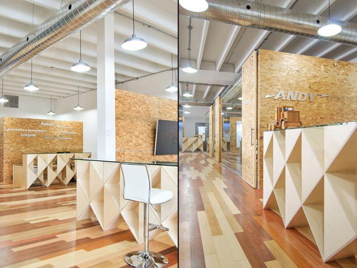AT Office By Est Architecture Montreal Canada CanadaOffice InteriorsStore DesignRetail DesignVisual MerchandisingDesign Blogs