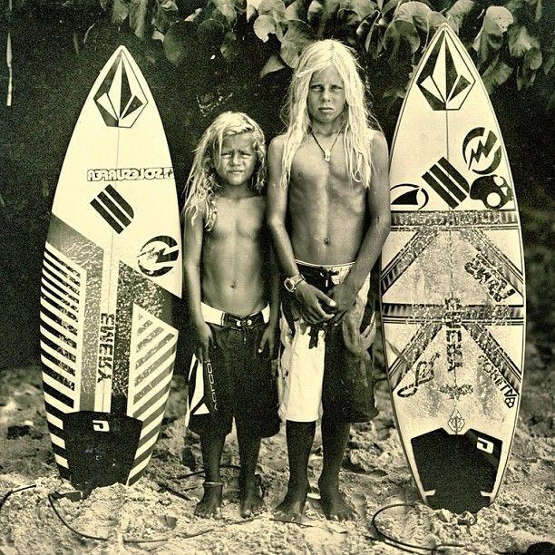 Baahaha! My childhood, summed up. Same look in their eyes and long hair chilling on the beach.