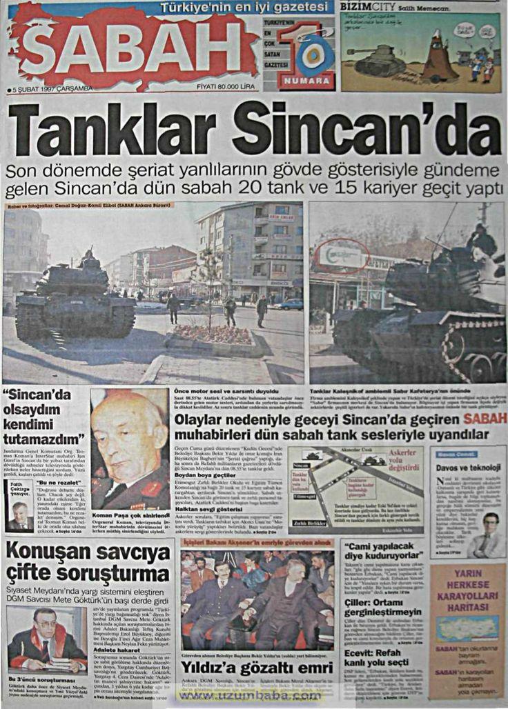 Sabah gazetesi 5 şubat 1997