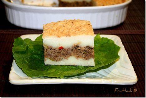 Pastelón de papas al estilo puertorriqueño        Shepherds Pie, Boricua style