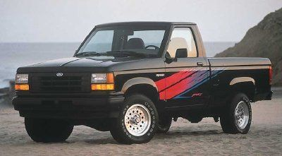 1992 Ford Ranger Sport models got their own distinct -- and colorful -- graphics.