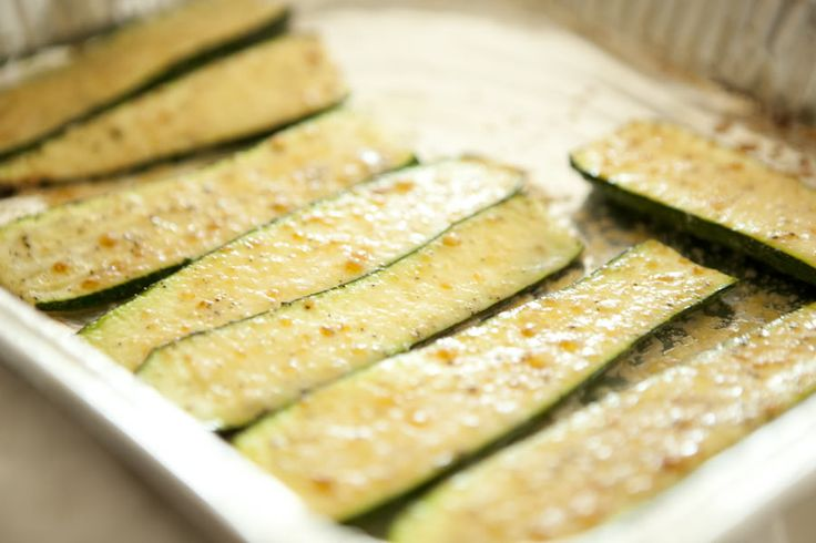 Broiled Baby Zucchini with Parmesan