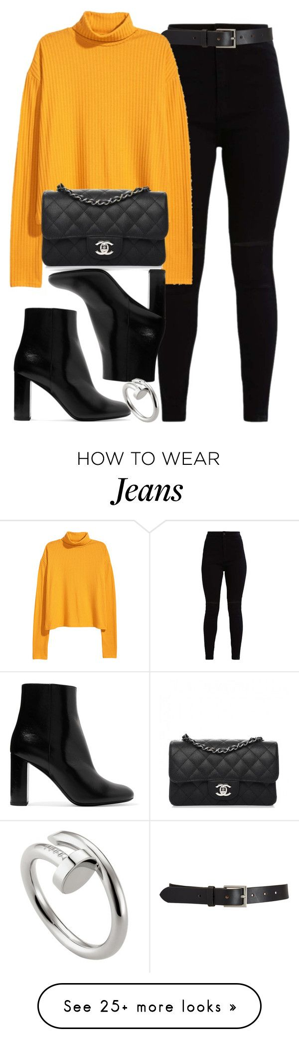 """Turtleneck"" by vany-alvarado on Polyvore featuring Barneys New York, Chanel, Yves Saint Laurent and Cartier"