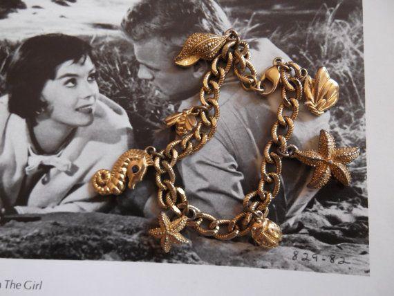Vintage 1970s Bracelet Monet Gold Tone by GoodGoodyGirlsJewels, $16.00