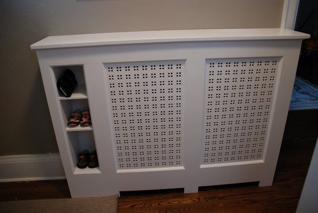 Radiator cover with storage.