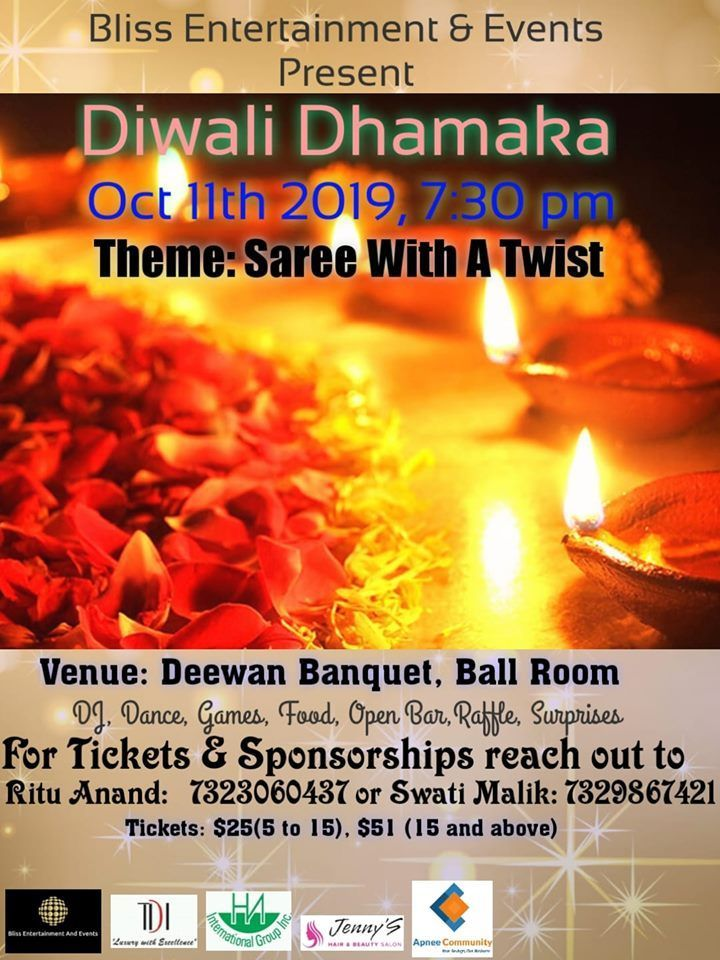 Deewan Banquet Stelton Road Piscataway Nj Usa Diwali Events Event Wedding Terms