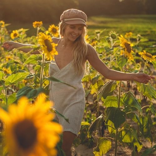 Can we speak in flowers. It will be easier for me to understand ✨ Urban Outfitter wrap dress and Brixton hat for a perfect summer day in the sunflowers #UrbanOutfittwrs #UOonyou #UOFLorida #Brixton #BrixtonWomens #ssCollective #ShopStyleCollective #MyShopStyle #ootd #mylook #summerstyle #lookoftheday #wearitloveit #getthelook #todaysdetails