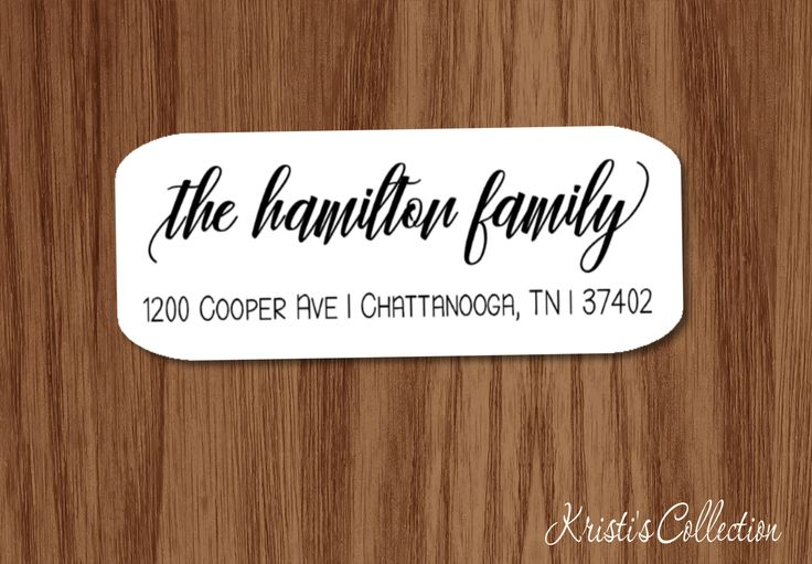 Family Calligraphy Return Address Labels Stickers - Custom Personalized Family Return Address Shipping Mailing Label by KristisCollection on Etsy