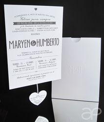 Modern Vintage Wedding Invitation / Invitación Vintage Moderna para Boda  www.alepineda.com