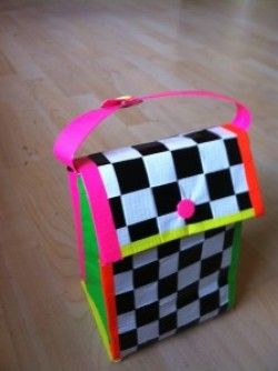 duct tape lunch bag. Brilliant idea. and it's soo cute!