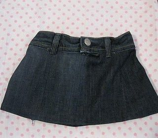 Designer Denim Toddler Skirt Jeans Refashioned Into A By Peek Boo