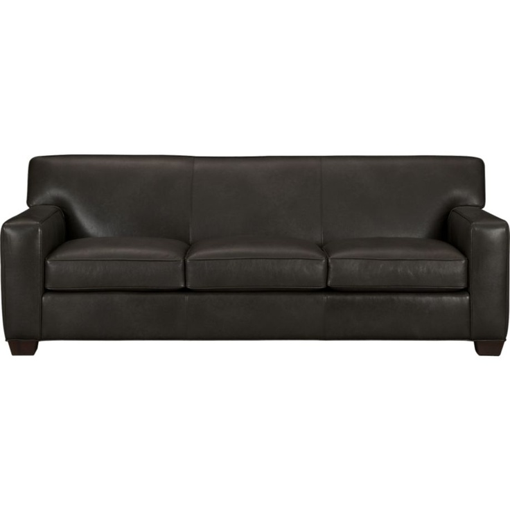 Modern Sectional Sofas Cameron Leather Queen Sleeper Sofa in Sofas