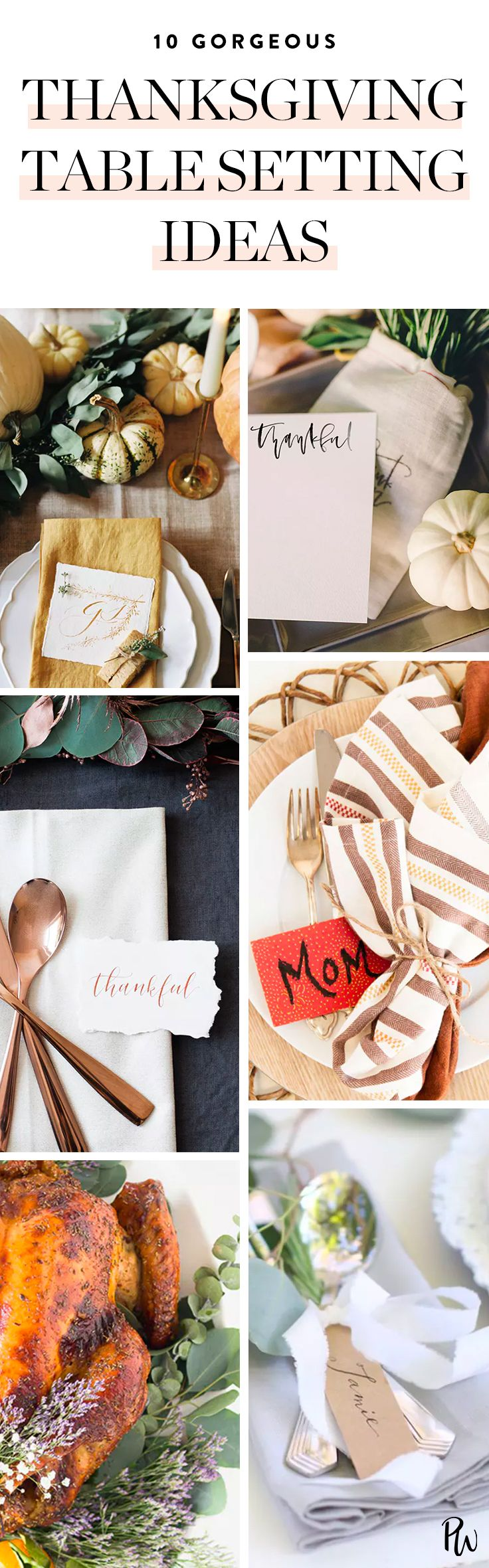 Here are 10 gorgeous and original Thanksgiving table setting ideas to up your fall decor game.