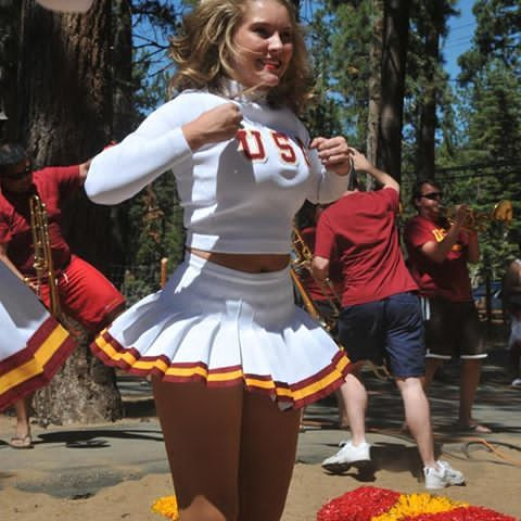 USC Song Girls photo from Ben Chua Flickr bchua_007 Tahoe Weekender from a few years ago.  #tennisskirt #pleatedminiskirt #uscsonggirls #songgirls #usc