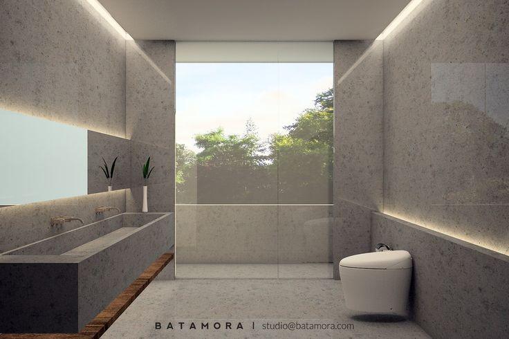 Desain kamar mandi mewah | Portofolio By : Batamora (Interior Designer di Sejasa.com)
