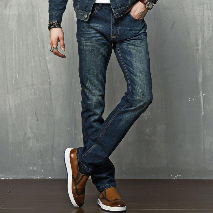 (44.00$)  Know more  - Pantalones Hombre Vaqueros Men Jeans Pants Slim Fit Biker Jeans Mens Denim Joggers Skinny Jeans Homme Winter Jeans