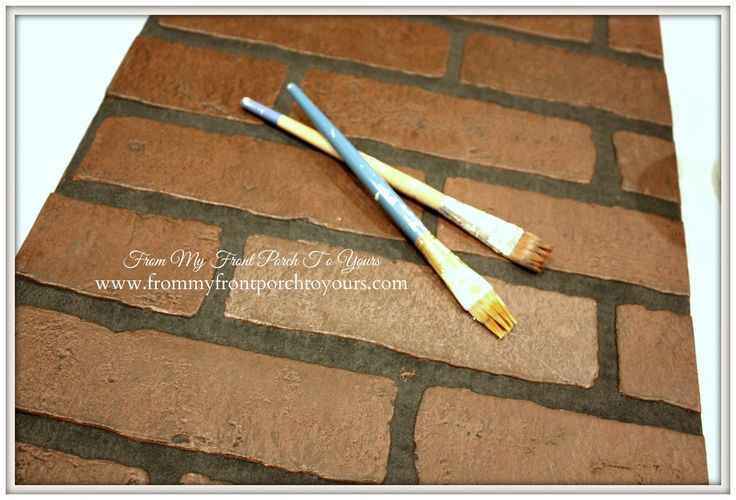 DIY Faux Brick Wall Tutorial- Lowes Brick Paneling-From My Front Porch To  Yours