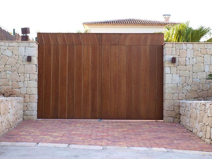 15 best portones images on pinterest door entry rustic for Como hacer una puerta de madera
