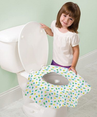 Another great find on #zulily! Yellow Starfish Keep Me Clean® Toilet Seat Protectors - Set of 20 by Summer Infant #zulilyfinds