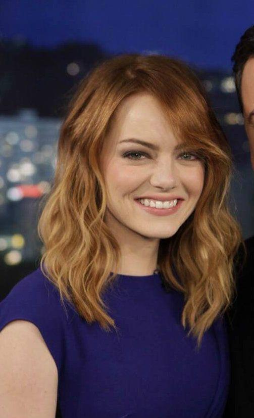 Loving Emma Stone's hair/haircut/haircolor these days!