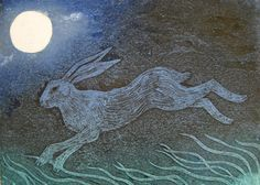 """""""Race the Wind"""" by Hester Cox (collagraph)"""