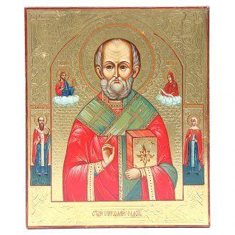 Icona antica russa San Nicola XX secolo Restaurata | vendita online su HOLYART