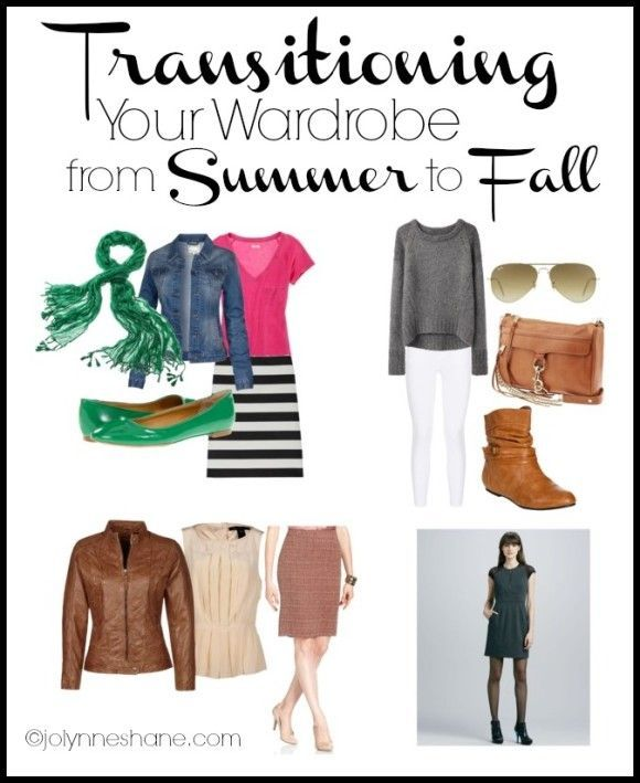 Transitioning Your Wardrobe From Summer to Fall. Click through to see these great ideas! Jo-Lynne Shane
