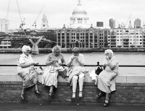 i found a picture pf four old people! but they're all white! why can't we find the perfect picture? it's cause we're so unique and awesome ;)