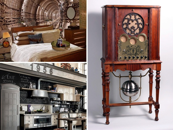 109 best images about living room on pinterest steampunk for Kitchen designs steampunk