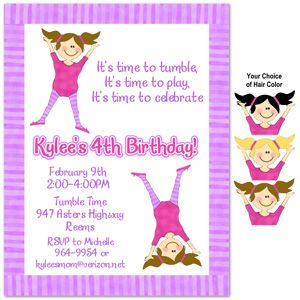 7 best gymnastics party invitations images on pinterest birthday gymnastic invite idea gymnastics birthday partiesbirthday stopboris Choice Image