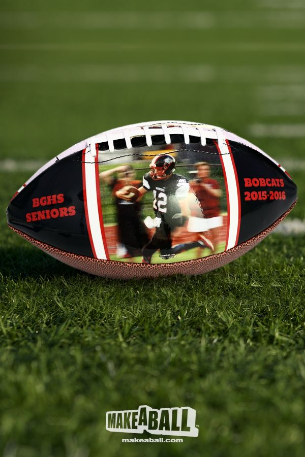 Customized football gift for your favorite player. Personalize it, make it your own.
